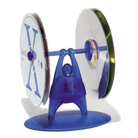 Suport CD-uri halterofil albastru