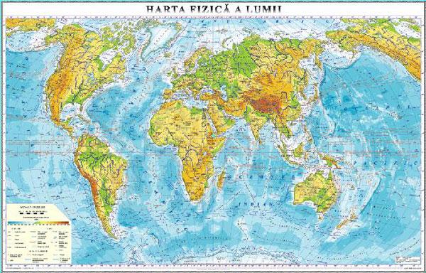 Harta Fizica A Lumii Inspirel