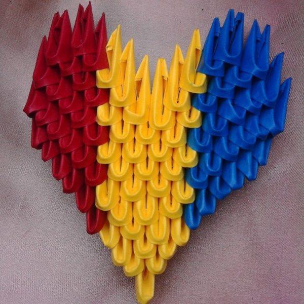 Magnet Inima Tricolora