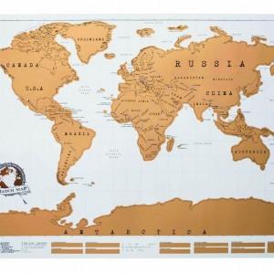 Harta lumii razuibila, alba
